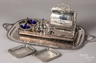 Group of silver plate.