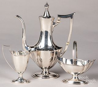 Gorham sterling silver three-piece tea service