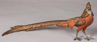 Austrian cold painted bronze pheasant