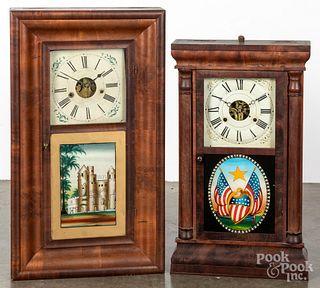 Two mantel clocks