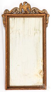 Chippendale style mahogany mirror, 19th c.