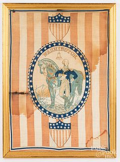 Printed George Washington handkerchief, 19th c.