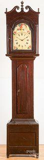 Pennsylvania stained poplar tall case clock