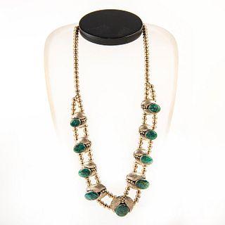 Native American Navajo Cerrillos Turquoise Pendant Necklace
