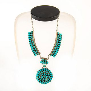 Native American Zuni Sleeping Beauty Turquoise Necklace