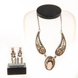 Native American Mother Of Pearl , Necklace, Earrings