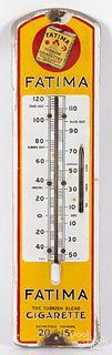 Fatima Cigarettes advertising thermometer