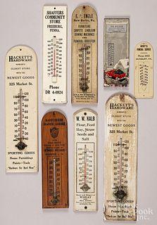 Sunbury, Pennsylvania advertising thermometers