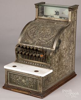 National brass cash register, #313
