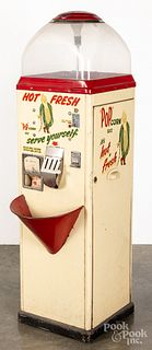 Pop Corn Hot Fresh coin operated vending machine