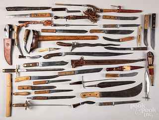 Large group of miscellaneous knives