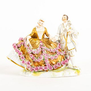 Vintage Dresden Porcelain Figural Group, Couple