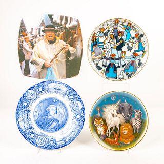 Set Of 4 Decorative Ceramic Plates