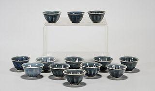 Group of Anamese Hoi an Hoard Tea Cups