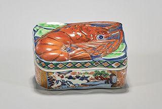 Antique Japanese Imari Covered Box