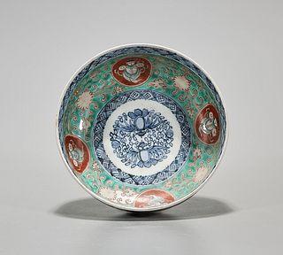 Japanese Enameled Porcelain Bowl