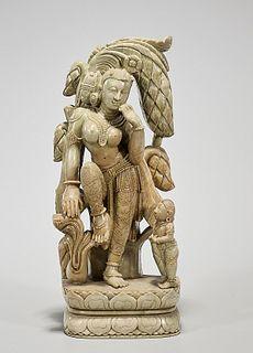Indian Soapstone Figure of Tara