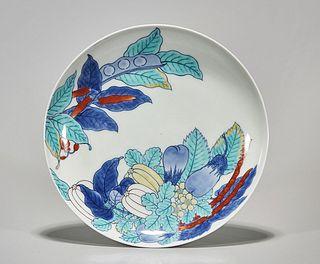 Old Japanese Doucai Porcelain Dish