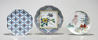 Group of Three Japanese Porcelain Dishes