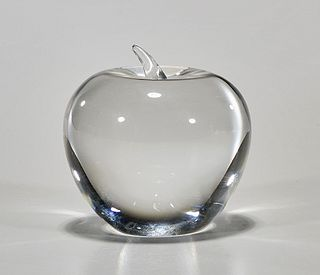 Tiffany & Co. Glass Apple Paperweight