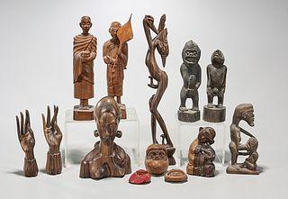 Group of Various Wood Figural Carvings