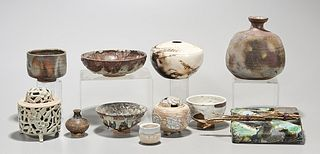 Group of Various Japanese Pottery Pieces