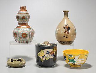 Group of Five Japanese Ceramics