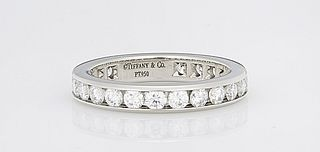 Tiffany and Co. Platinum and Diamond Ring