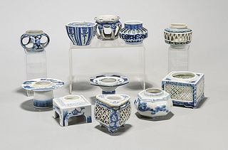 Group of Japanese Blue and White Porcelains