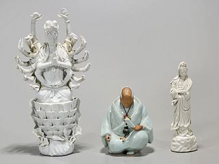 Group of Three Chinese and Japanese Ceramics