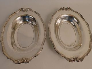 PAIR WHITING STERLING SERVING BOWLS