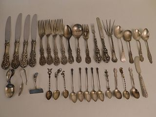34 PIECES STERLING FLATWARE