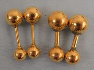 14K GOLD CUFFLINKS
