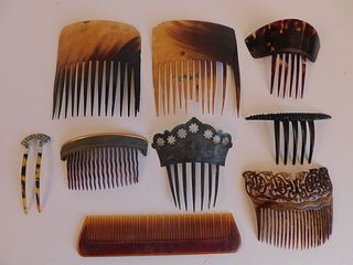 LOT ANTIQUE HAIR COMBS
