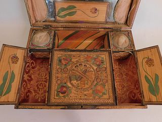 SUPERB STRAW WORK INLAID DRESSER BOX