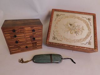 DRESSER BOXES & CHINESE EYEGLASS CASE