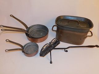 HEAVY ANTIQUE COPPER PANS
