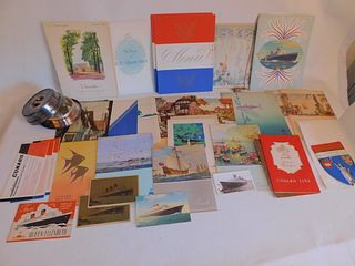 OLD CUNARD LINE CRUISE SHIP MENUS ETC