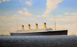 GRAHAM FLIGHT PAINTING OF SHIP TITANIC