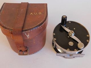 RARE SALMON REEL BY EDWARD VOM HOFE