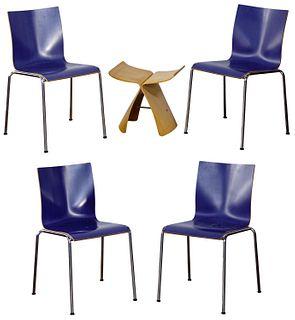 Erik Magnussen for Engelbrecht Bentwood Chair Assortment