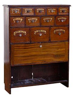 Mahogany Apothecary Cabinet