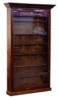 Perfume Display Wood and Glass Cabinet