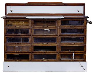 Glass Front Display Wood Cabinet