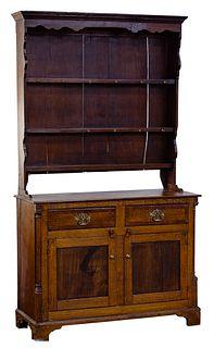 Oak Hutch and Cabinet