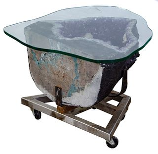 Amethyst Geode Table