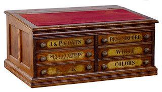 J. & P. Coats Spool Cabinet