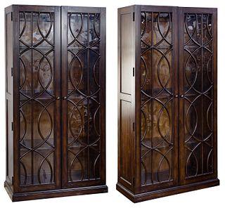 Hooker Furniture 'Adaria' Wood Display Cabinets