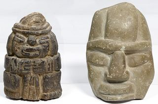 Chontal Mayan Style Stone Carvings