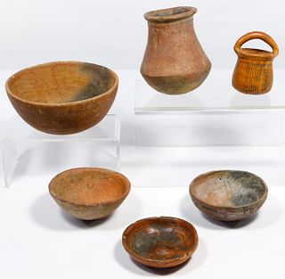 Pre-Columbian Colima Red Ware Assortment